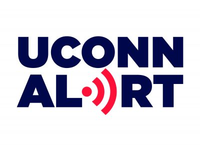UConn Alert for Print White